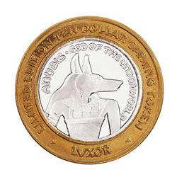 .999 Silver Luxor Las Vegas Nevada $10 Casino Limited Edition Gaming Token