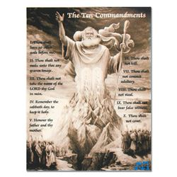 """""""Ringo"""" Daniel Funes """"Ten Commandments"""" Original Mixed Media On Canvas"""