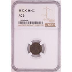 1842-O Seated Liberty Half Dime Coin NGC AG3