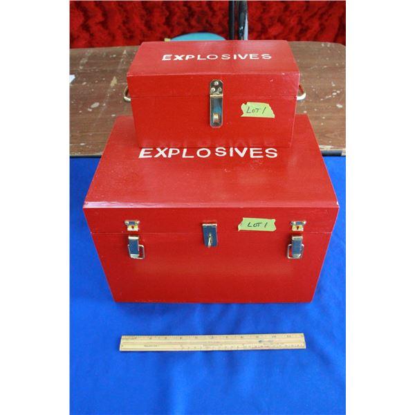 """Powder Storage Box (10""""x14""""x9"""") & a Primer Storage Box(10""""x6""""x5"""")"""