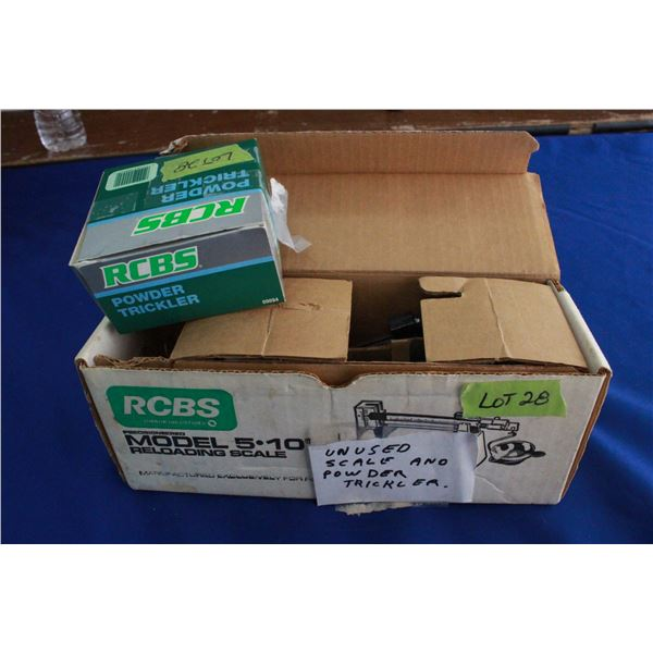 RCBS Scale and Powder Trickler (Unused)