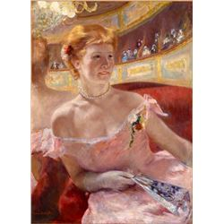 Cassatt - Woman with a Pearl Necklace in a Loge