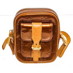 Louis Vuitton Bronze Vernis Leather Chrisite PM Crossbody Bag