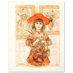 """""""Wendy the Youngest Docent"""" Limited Edition Lithograph by Edna Hibel (1917-2014)"""