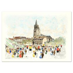 """Urbain Huchet, """"St Germain du Pre"""" Limited Edition Lithograph, Numbered and Hand"""