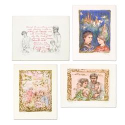 """Edna Hibel (1917-2014), """"The Family Suite Edition II"""" 4-Piece Limited Edition Li"""