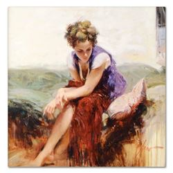 """Pino (1939-2010), """"Francesca"""" Artist Embellished Limited Edition on Canvas, Numb"""
