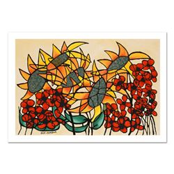 "Avi Ben-Simhon, ""Sunflowers"" Limited Edition Serigraph, Numbered and Hand Signed"