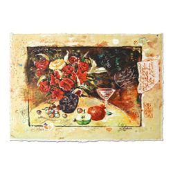 "Sergey Kovrigo, ""Wine and Roses"" Hand Signed Limited Edition Serigraph with Lett"