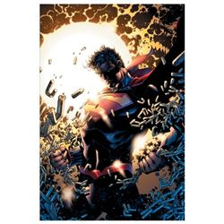 "DC Comics, ""Superman Unchained"" Numbered Limited Edition Giclee on Canvas by Jim"