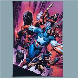 "Marvel Comics ""New Avengers #12"" Numbered Limited Edition Giclee on Canvas by Mi"