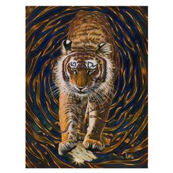 "Vera V. Goncharenko, ""Wild Tiger"" Hand Signed Limited Edition Giclee on Canvas w"
