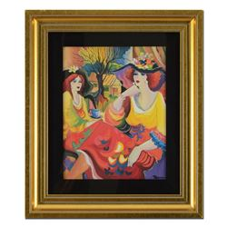 "Patricia Govezensky, ""Friends at Brunch"" Framed Limited Edition Serigraph on Can"