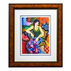 "Patricia Govezensky, ""Louise"" Framed Original Watercolor with Letter of Authenti"