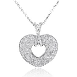 18k White Gold 1.02CTW Diamond Pendant, (I1 /H-I)