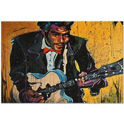 """""""Chuck Berry (Chuck)"""" Limited Edition Giclee on Canvas by David Garibaldi, Numbe"""