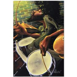 """""""Break Beat Fever"""" Limited Edition Giclee on Canvas (24"""" x 36"""") by David Garibal"""