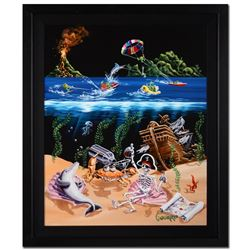 """Michael Godard, """"Sand Bar II"""" Framed Limited Edition on Canvas, Numbered and Sig"""