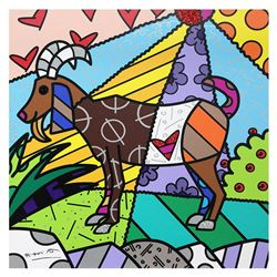 "Britto, ""Capricorn"" Hand Signed Limited Edition Giclee on Canvas; Authenticated."
