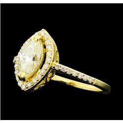 1.16 ctw Diamond Ring - 14KT Yellow Gold