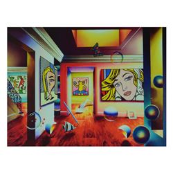 """Ferjo, """"Pop Interior"""" Limited Edition on Canvas, Numbered and Signed with Letter"""