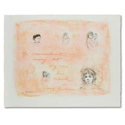 """Edna Hibel (1917-2014), """"Through the Generations"""" Limited Edition Lithograph, Nu"""
