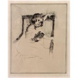 Cassatt - Kneeling in an Armchair