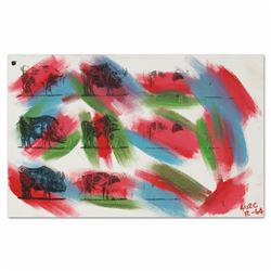 """Ringo, """"Eleven Bulls (Picasso)"""" One-of-a-Kind Hand-Pulled Silkscreen and Mixed M"""