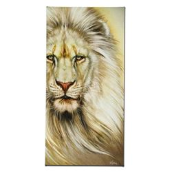 """""""White Lion"""" Limited Edition Giclee on Canvas by Martin Katon, Numbered and Hand"""
