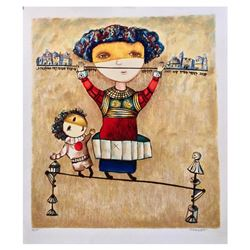 "Gregory Kohelet, ""Tightrope Walkers"" Hand Signed Limited Edition Serigraph with"