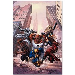 "Marvel Comics ""New Avengers #17"" Numbered Limited Edition Giclee on Canvas by Mi"