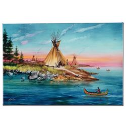 """""""Tipi Territory"""" Limited Edition Giclee on Canvas by Martin Katon, Numbered and"""