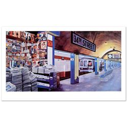 """Ken Keeley, """"My Underground: 34th St Station"""" Limited Edition Serigraph, Numbere"""