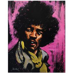 """Jimi Hendrix (Purple Haze)"" Limited Edition Giclee on Canvas (40"" x 50"") by Dav"
