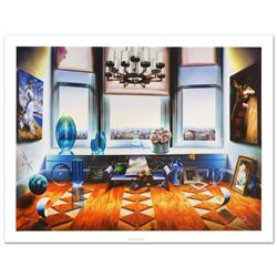 """""""City View"""" Limited Edition Giclee on Canvas (40"""" x 30"""") by Ferjo, Numbered and"""