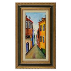 Mikheil Mikaberidze, Framed Original Oil Painting on Canvas, Hand Signed Inverso