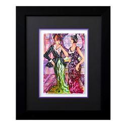 "Patricia Govezensky, ""Dylla & Jennifer"" Framed Original Watercolor with Letter o"