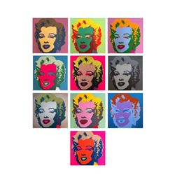 """Andy Warhol """"Classic Marilyn Portfolio"""" Suite of 10 Silk Screen Prints from Sund"""