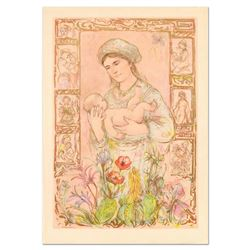 "Edna Hibel (1917-2014), ""Raquela"" Limited Edition Lithograph on Rice Paper, Numb"