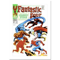 """Stan Lee Signed, """"Fantastic Four #73"""" Numbered Marvel Comics Limited Edition Can"""