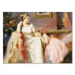 """Pino (1939-2010), """"Touch of Warmth"""" Artist Embellished Limited Edition on Canvas"""