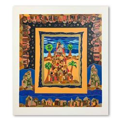 """Ilan Hasson, """"Oasis"""" Hand Signed Limited Edition Serigraph on Paper with Letter"""