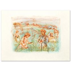 """""""Fields Near Chartres"""" Limited Edition Lithograph by Edna Hibel (1917-2014), Num"""