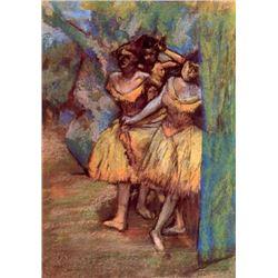 Edgar Degas - Three Dancers Behind The Scenes