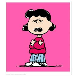 """Peanuts, """"Lucy: Pink"""" Hand Numbered Limited Edition Fine Art Print with Certific"""