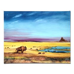 """""""Where the Buffalo..."""" Limited Edition Giclee on Canvas by Martin Katon, Numbere"""