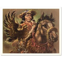 """Virginia Dan (1922-2014), """"Warrior"""" Limited Edition Lithograph, Numbered and Han"""