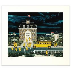 """Jane Wooster Scott, """"Downpour Down East"""" Hand Signed Limited Edition Serigraph w"""