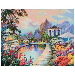 """Zina Roitman, """"Tranquility"""" Limited Edition Serigraph on Canvas Board, Numbered"""