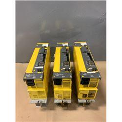 (3) - FANUC A06B-6127-H209 aiSV 80/80HV SERVO DRIVES